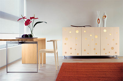 quartodiluna polka dots furniture design Quirky Contemporary Cupboard Design from Horm