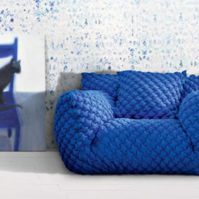 Quilted Goose Down Sofa with Removable Cover – Nuvola from Gervasoni by Paola Navone
