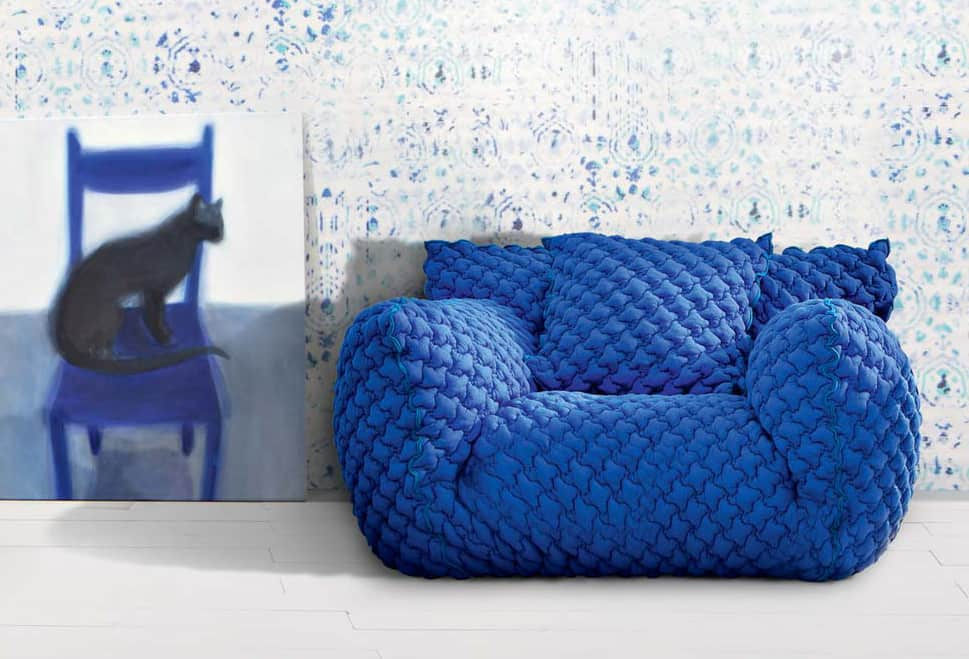 Quilted Goose Down Sofa With Removable Cover U2013 Nuvola From Gervasoni By  Paola Navone
