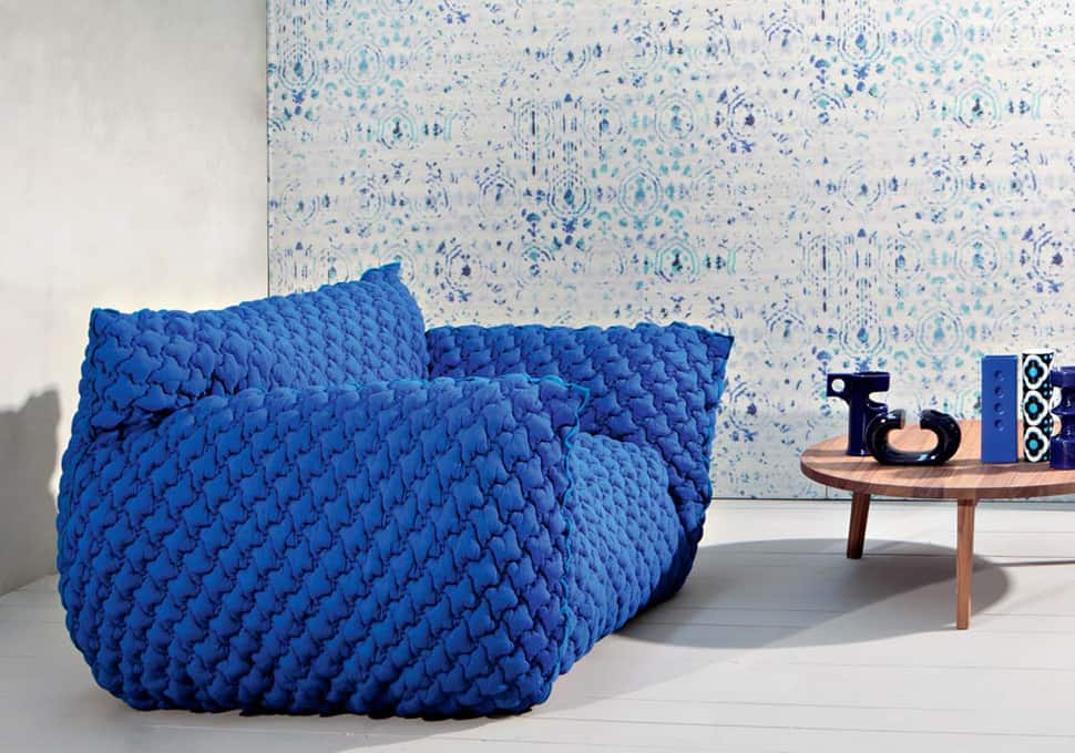 quilted goose down sofa with removable cover nuvola from gervasoni by paola navone. Black Bedroom Furniture Sets. Home Design Ideas