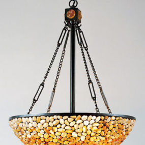 Contemporary Tiffany Pendant from Quoizel Lighting – the Pomez pendant