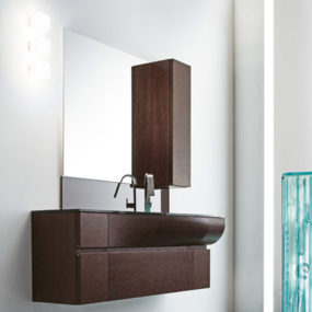 Curved Vanity design by RAB Aredobagno – Wave contemporary Italian vanity
