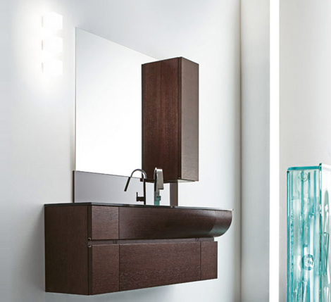 Vanity Designs Entrancing Curved Vanity Designrab Aredobagno  Wave Contemporary Italian Decorating Inspiration