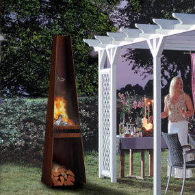 Garden Fireplace Gizeh (Giza) from Rais – metal outdoor fireplace