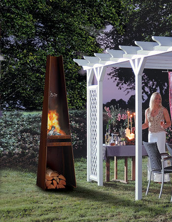 rais gizeh garden fireplace Garden Fireplace Gizeh (Giza) from Rais   metal outdoor fireplace