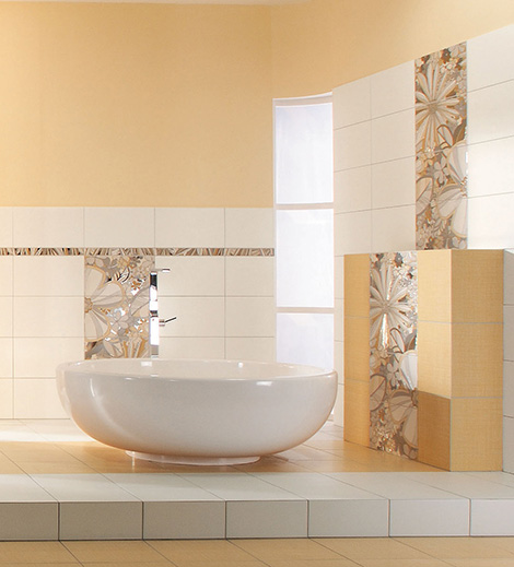 rako tiles botanica Decorative Floral Tile from Rako will add buoyant blooms to your bathroom