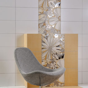 Decorative Floral Tile from Rako will add buoyant blooms to your bathroom