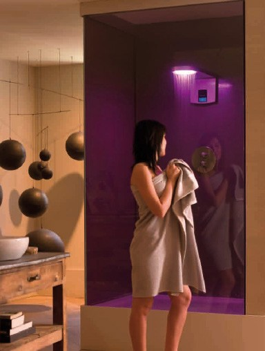 ramon soler shower hidrocrom 1 HydroChromotherapy Shower Hidrocrom from Ramon Soler   a private bathroom paradise