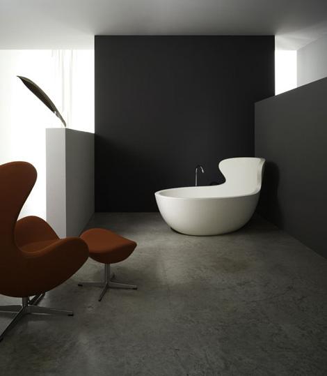 rapsel arne bathtub Modern Bathroom for the discerning   Rapsel Vision Washbasin and Arne Bathtub