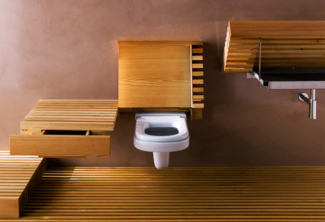 rapsel bathroom collection one 2 Larch Wood Bathroom collection by Rapsel   One disappearing bathroom