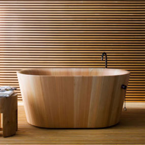 Japanese Sit Bath Tub Deep Free Standing Soaking Tub
