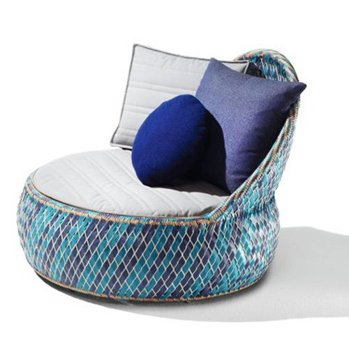 Elegant Recycled Material Garden Armchair By Dedon Part 12