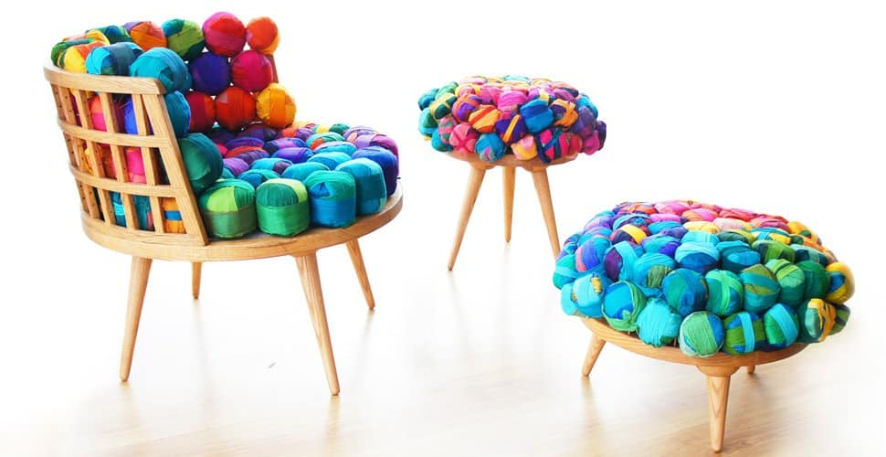 Recycled Silk Furniture by Meb Rure