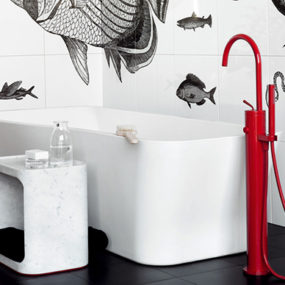 Red Freestanding Faucet by Zucchetti