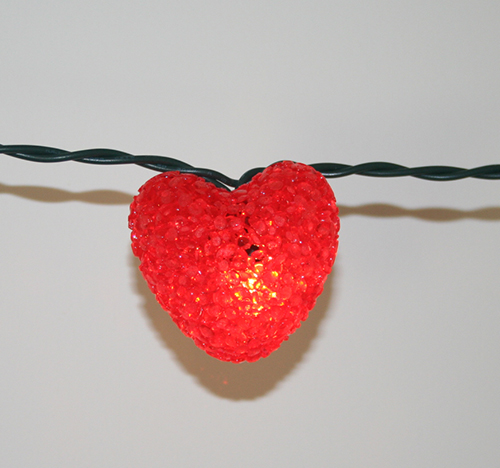 view in gallery red heart string lights 4jpg - Valentine String Lights