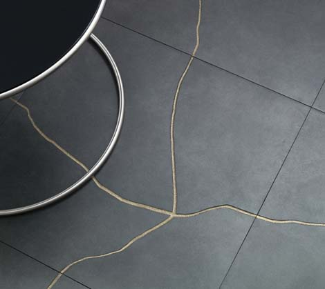Contemporary Cracked Tiles by Refin - Terraviva