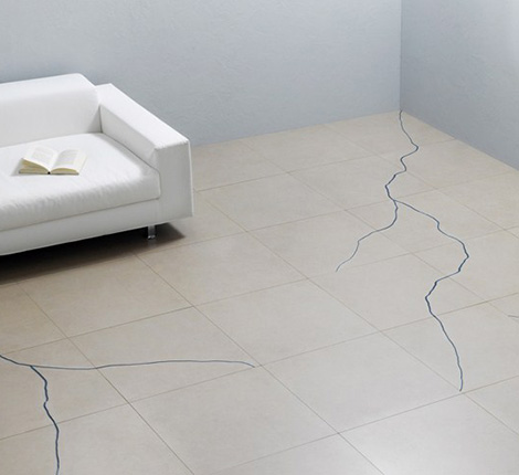 Contemporary cracked tiles by refin terraviva for Carrelage slim tile