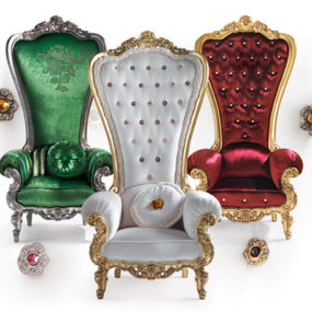 Regal Armchair Throne by Caspani