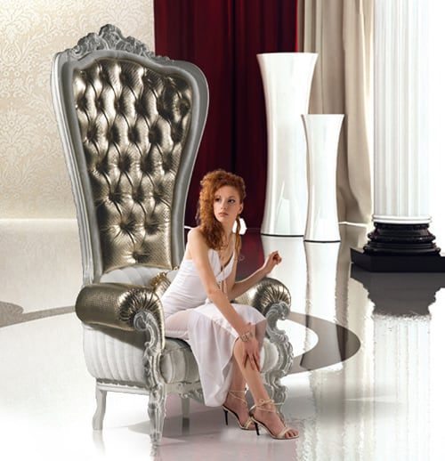 regal armchair throne caspani 2 Regal Armchair Throne by Caspani