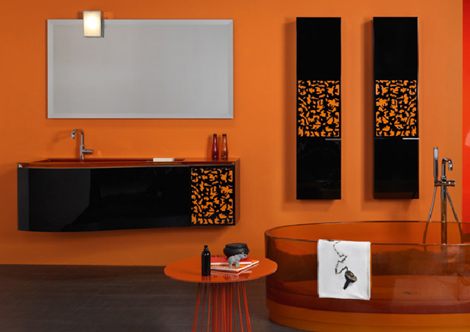 regia batik bathroom furniture Orange Vanity Set from Regia