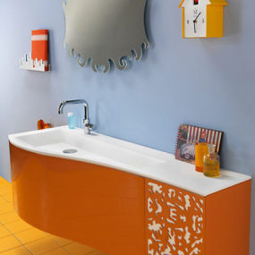 Orange Vanity Set from Regia