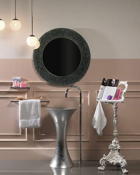 Regia Calice washstand in Silver
