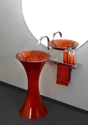 regia calice rosso washbasin Regia Calice Washbasin   a free standing pedestal basin