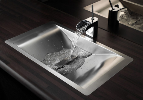 reginox sink wave 1 Metal Bathroom Sinks   new sink design Wave by Reginox