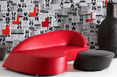 retro modern sofa leolux morena 2
