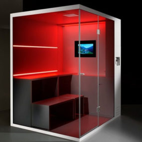 Compact Shower Cubicle offers dry sauna, steam bath and shower, Revolution by Carmenta