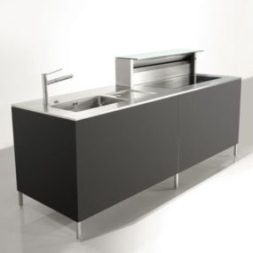 Compact Kitchen 'Unit Cubic' by Rieber – contemporary kitchen island
