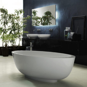 2008 Bathroom Collection from Rifra – Encase yourself in luxury with stone, egg-shaped bathtubs!