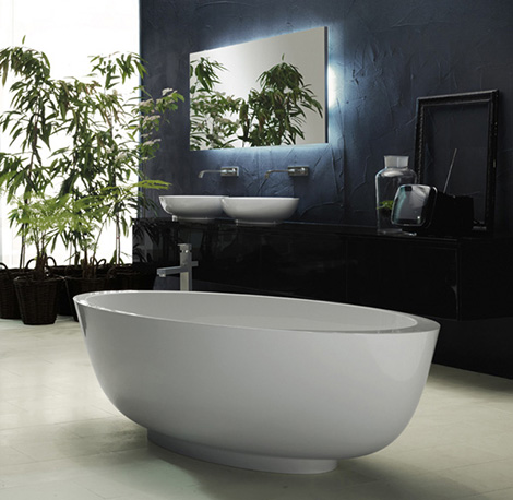 rifra bathroom collection 2008 2008 Bathroom Collection from Rifra   Encase yourself in luxury with stone, egg shaped bathtubs!