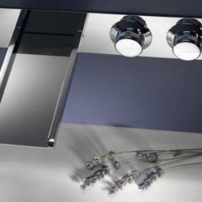 Wall Mount Bath Faucet by Ritmonio – new Clock Work Waterwall & Clock Work Roundspout faucet series