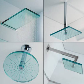 Glass Shower Head by Ritmonio, the Euridice from Nesting Collection