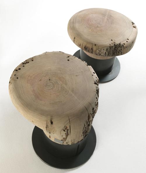 riva stool bitta 2 Solid Wood Stool   Bitta by Riva