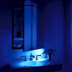 Robern M Series mirrored cabinet with an integrated LED night light