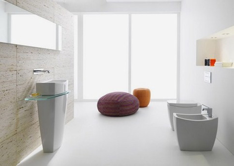 Clean Contemporary Bathroom Design – new Tiber collection by Roca