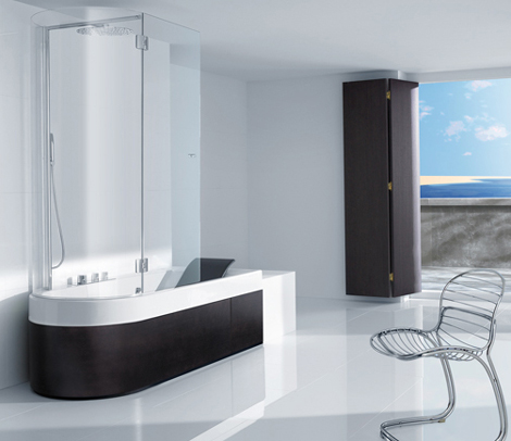 roca tub shower combination happening 1 Shower Tub Combination from Roca   Happening Combination