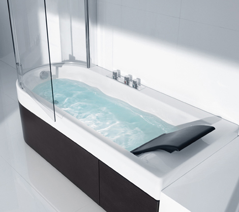 roca tub shower combination happening 2 Shower Tub Combination from Roca   Happening Combination