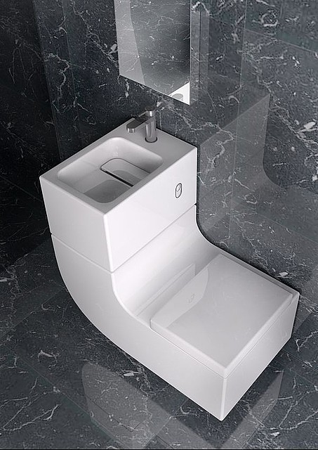 roca washbasin watercloset ww 1 Washbasin Watercloset Combination by Roca   W+W