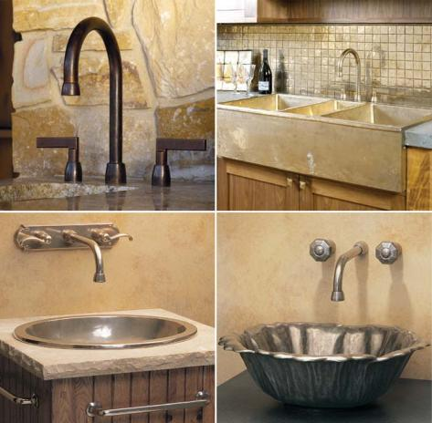rocky mountain all Rustic beauty of molten bronze sinks & faucets