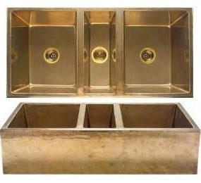 Rustic beauty of molten bronze sinks & faucets
