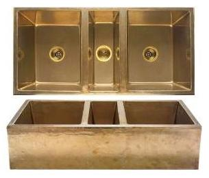 rocky mountain apron Rustic beauty of molten bronze sinks & faucets