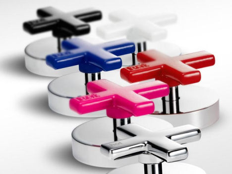rogerseller gas cross handle colors Gas bathroom faucet from Rogerseller   the pop art tapware design