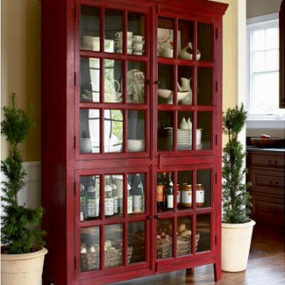Rojo Cabinet from Crate & Barrel – a modern china cabinet