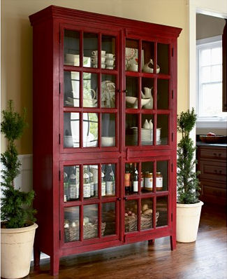 rojo cabinet Rojo Cabinet from Crate & Barrel   a modern china cabinet