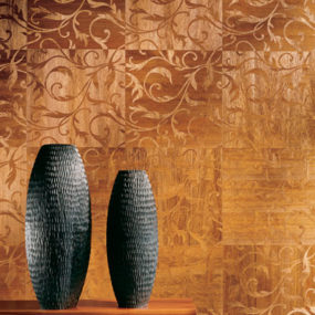 Marquetry Inlaid Wood Veneer by Maya Romanoff