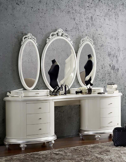 romantic dressing table white silver by jetclass venezia 1 Romantic Dressing Table by Jetclass   Venezia