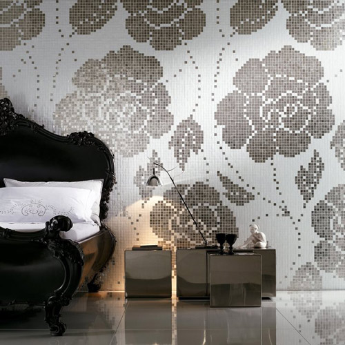 romantic elegant mosaic bisazza 1 Elegant Mosaic Tiles by Bisazza